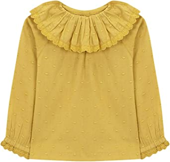 Gocco Camisa Cuello Volante Blusa, Amarillo (Mostaza Yf), 12 ...
