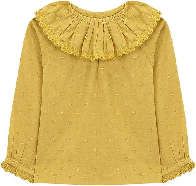 Gocco Camisa Cuello Volante, Blusa para Bebés - Ropa