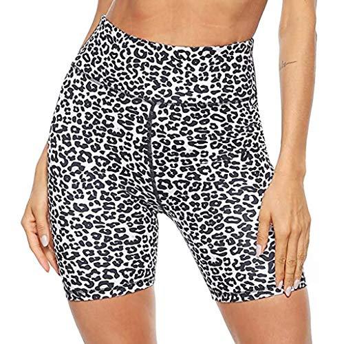YANFANG Pantalones Cortos de Yoga para Mujer,para Entrenamiento con Estampado de Cintura Alta para Mujer, Bolsillos Ocultos, Pantalones Cortos atléticos, piernas, Ajustado para Deporte