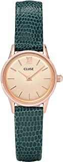 Cluse Women's La Vedette 24mm Leather Band Metal Case Quartz Dial Analog Watches Collection