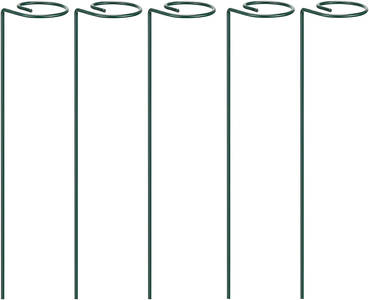 Acronde 5 PCS Single Stem Plant Support Ring for Plant Support for Amaryllis Tomatoes Orchid Lily Peony Rose Flower Stem, Plant Cage, Plant Support