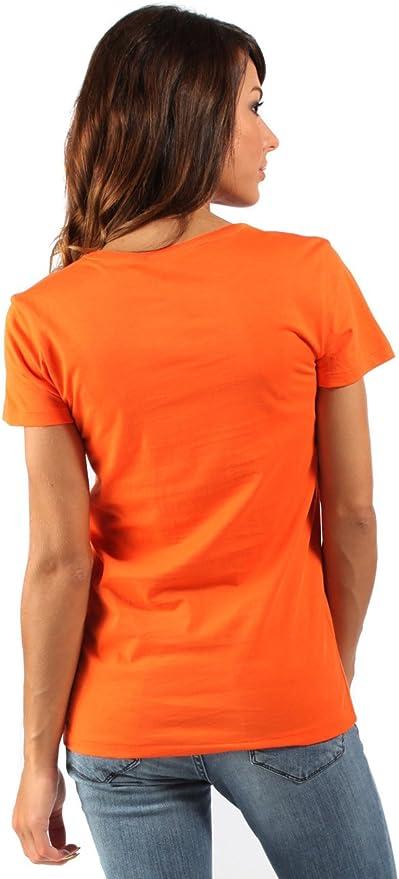 Ralph Lauren - Camiseta - para Mujer Neón-Naranja Extra-Small ...