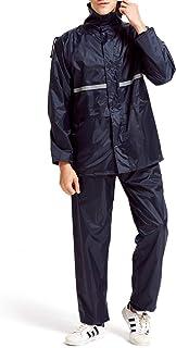 Anqier レインコート メンズ レインウェア レインスーツ レインコート レディース上下セット 全天候型 レインコート 雨具 アウトドアスポーツ 自転車 バイク 通気メッシュ 雨合羽 カッパ 通学通勤に対応 梅雨・台風対策 収納袋付き 男女兼用