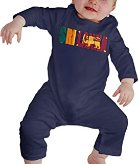 A1BY-5US Baby Infant Toddler Bodysuits Sri Lanka Text Cotton Long Sleeve Romper Suit