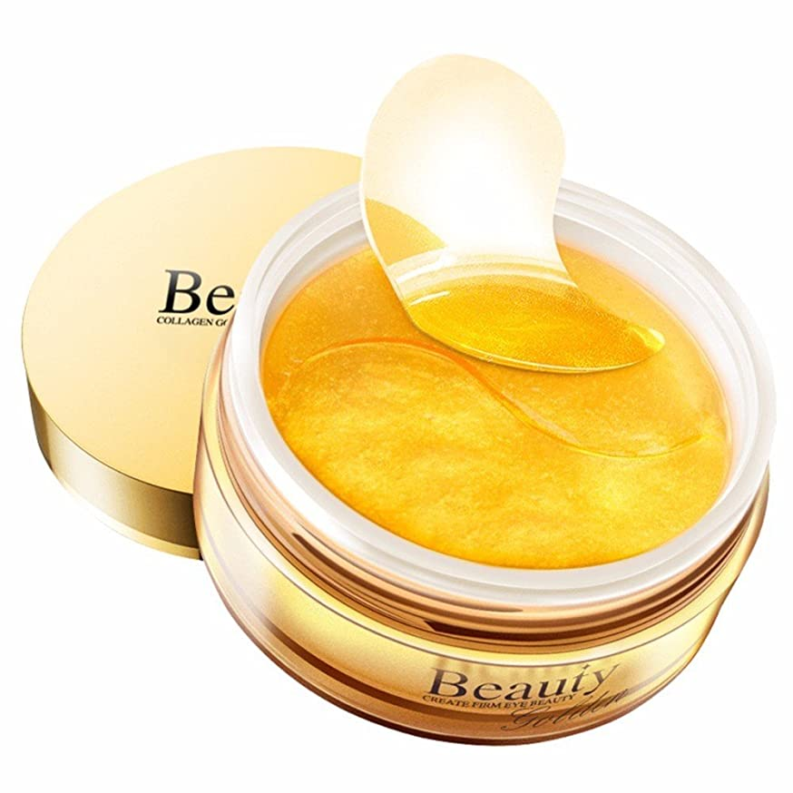 60pcs Gold Collagen Anti Wrinkle Moisturizing Eye Mask Patch For Women Skin Care