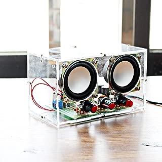 DDIY Mini Electronic Transparent Stereo Speaker Box DIY Kit Sound Amplifier for Arduino EK2030