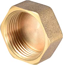 uxcell Brass Cap, Hex Pipe Fitting 3/4