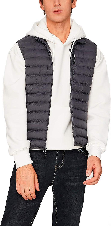 LAPASA Piumino da Uomo Gilet Termico Cappotto Invernale con Collo Alto Senza Maniche M69