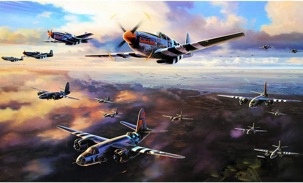 Puzzle shopping Airplane War Jigsaw Many popular brands Kids D Home Mural Adult Wooden