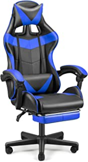 SOONTRANS Racing Style Gamer Chair, Ergonomic Chair, Video Game Chairs, Gaming Chair with Footrest, Adjustable Height,Head...