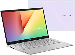 Asus Vivobook S14 S433FL-EB081T Laptop (Dreamy White) - Intel i7-10510U 1.8 GHz, 8GB RAM, 512GB SSD, Nvidia GeForce MX250, 14 inches, Windows 10, Eng-Arb-KB