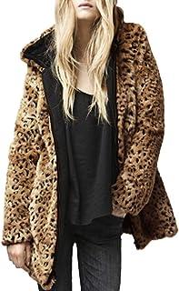 0111dd825ff8 BaZhaHei Giacca Donna,Inverno Cappotto Donne da Casual Cappotto Outwear  Cappotto delle Donne Leopardo Inverno
