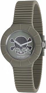 Reloj HIP HOP por Hombre Skull con Correa de silicio, Glam, Movimiento Time Just - 3H Cuarzo