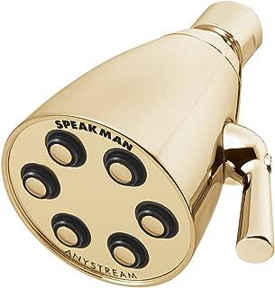 Speakman S-2252-PB Signature Brass Icon Anystream High Pressure Adjustable Shower Head, Polished Brass