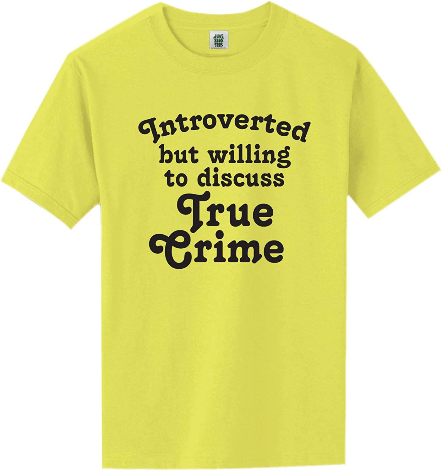 Introverted.Discuss True Crime Short Sleeve Neon Tee