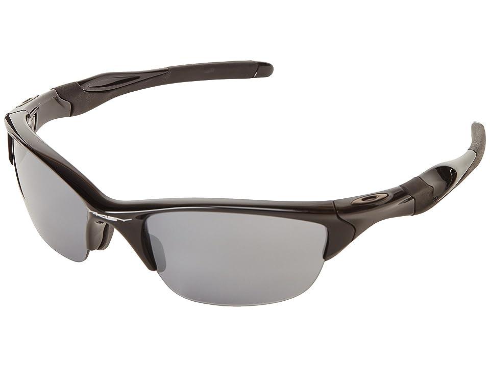 Oakley Half Jacket 2.0 (Polished Black W/Black Iridium) Sport Sunglasses