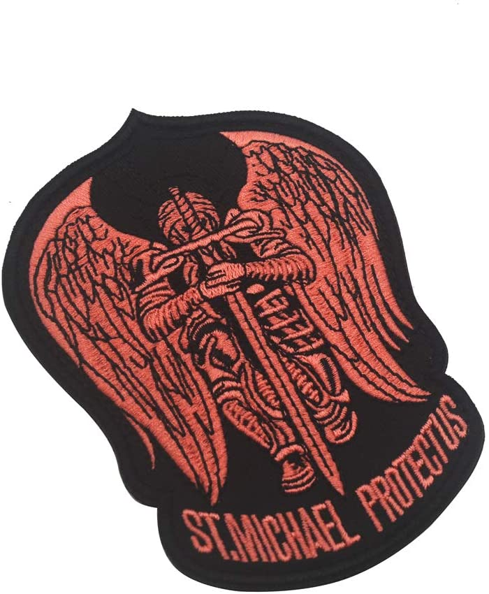 St.Saint Michael Protect Us Modern Max 87% OFF Large discharge sale Tact Patch Morale Embroidered