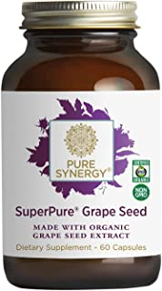 Pure Synergy SuperPure Grape Seed Extract (60 Capsules) w/ Proanthocyanidins for Antioxidant Support