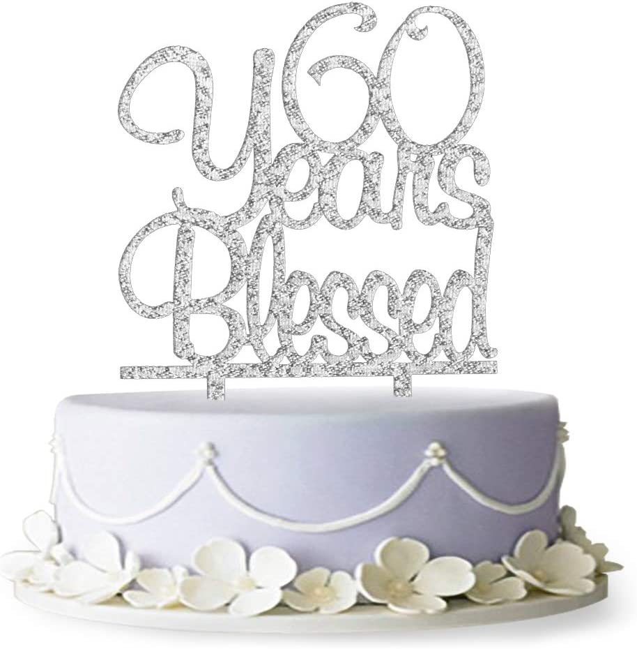 60 Years Blessed Cake shopping Topper- De Ranking TOP4 Birthday 60th Anniversary Party
