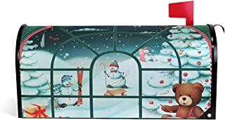 ALAZA Christmas Santa Hat on The Beach with Starfish Mailbox Cover Standard Size-18x 20.8