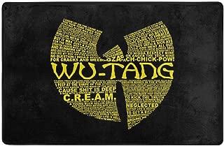 Wu Tang Clan Non-Slip Area Rugs Home Decor Floor Mat Living Room Bedroom Carpets Doormats 60 X 39 Inches