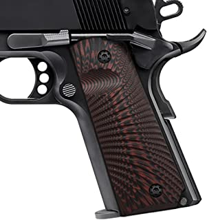 Cool Hand 1911 Full Size G10 Grips, Screws Included, Mag Release, Ambi Safety Cut, Sunburst Texture, Brand