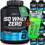 Biotech Iso Whey Zero (1 x 2.27 kg) oder (1 x 4.54 kg) in 21 verschiedene Geschmäckern erhältlich 100% Whey 2270, Pulver Isolat + GRATIS C.P.Sports Shaker gelb (Aprikose-Joghurt, 2270g -...