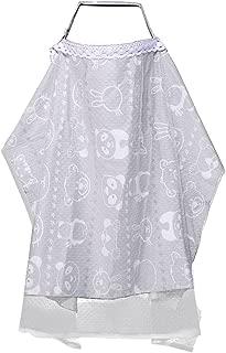 授乳カバー, KUCI® 綿100% 授乳ケープ ポンチョ 授乳ストラップ付き 出産祝い 多用途フレキシブルラージ& 広々 360度安心 (Grey)