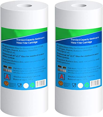 """2pcs Big Blue Whole House Water Filter 10/"""" x 4.5/"""" Fit Whirlpool WHKF-GD25BB New"""