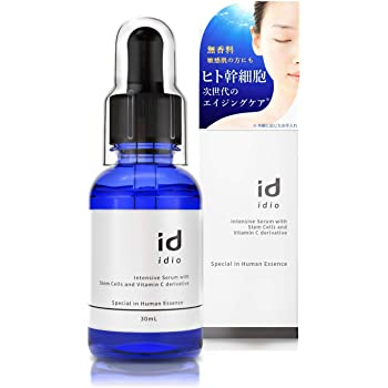 (イディオ) idio 皮膚科医が大注目のヒト幹細胞美容液 ほうれい線 セラミド EGF ビタミンC誘導体 APPS 無香料 日本製