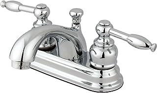 Kingston Brass KB2601KL+ Knight 4-Inch Centerset Lavatory Faucet, Polished Chrome
