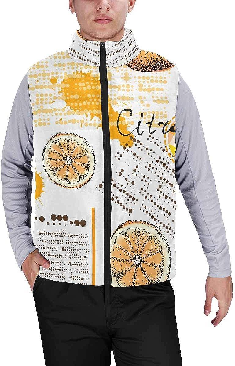 InterestPrint Men's Outdoor Casual Stand Collar Sleeveless Jacket Grunge Halloween Background