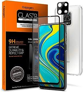 Spigen 【1枚入】 Xiaomi Redmi Note 9S / 9 Pro / 9 Pro Max ガラスフィルム + カメラ保護フィルム 【フルカバー】 全面保護 9H硬度 撥油加工 飛散防止 Redmi Note 9S / 9 Pr...