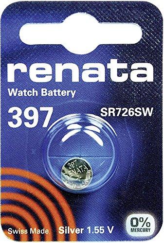 397 (SR726SW) Münzen-Batterie / Silber-Oxid 1.55V / für Uhren, Taschenlampen, Autoschlüssel , Taschenrechner , Kameras, etc / iCHOOSE