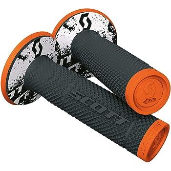 orange Griffe aus Gummi Lenkergriffe f/ür MotoCross Pitbike Enduro Trial MX Freeride mit Logo