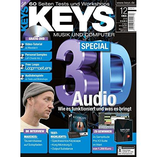 Keys 12 2016 mit DVD - 3D Audio - Wavelab 9 Video Tutorial - Personal Samples - Free Loops - Audiobeispiele