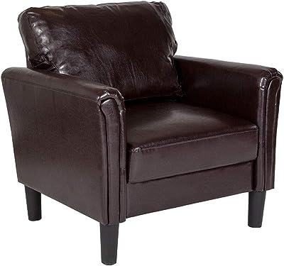 Tremendous Amazon Com Ashley Furniture Bristan Leather Chair In Walnut Unemploymentrelief Wooden Chair Designs For Living Room Unemploymentrelieforg