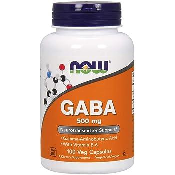 [海外直送品] ナウフーズ ギャバ GABA(ガンマアミノ酪酸)+B6 100ベジタブルカプセル