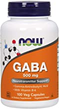 NOW Gaba 500mg, 100 Veg Capsules