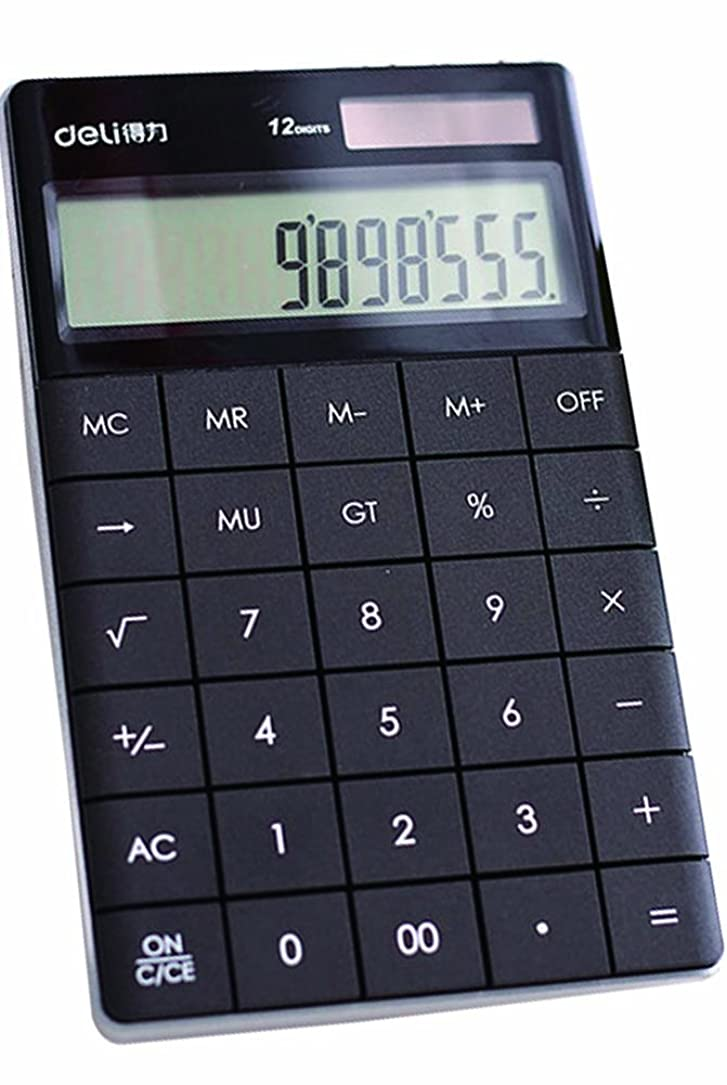 ウイルスヘクタール繁栄ブラックシンプルな電卓デスクトップ電卓ビジネス電卓