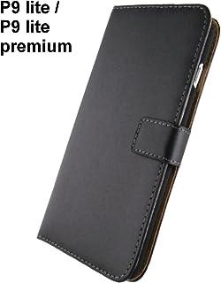 Huawei P9 lite ケース 手帳型 Black / スリム・薄型 の 本革レザー + 耐衝撃 PC ホルダー / カードホルダー / スタンド 機能 / p9lite ケース 手帳 p9 lite ケース p9lite カバー p9 lite カバー ( P9L本革Black )