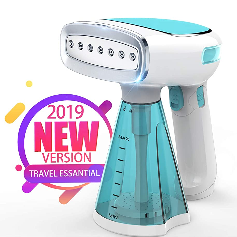 Keiyaloe Portable Clothes Steamer,1200W Handheld Garment Steamer?with 250ml,25s Fast Heat-up?Steamer for Clothes, Fabric Steamer for Home and Travel,Vertically & Horizontally Steam,Three Steam Mode