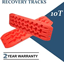 SCITOO 1 Pair Recovery Traction Tracks Sand Snow Mud Tracks Tire Ladder for 4WD Off-Road Vehicles Red (10 Ton)