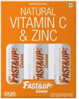 Fast&Up Charge - Vitamin C - Zinc - Natural Amla Extract - Antioxidants - Immunity - skin care - family pack - 60...