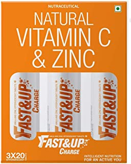 Fast&Up Charge - Vitamin C - Zinc - Natural Amla Extract - Antioxidants - Immunity - skin care - family pack - 60 Efferves...