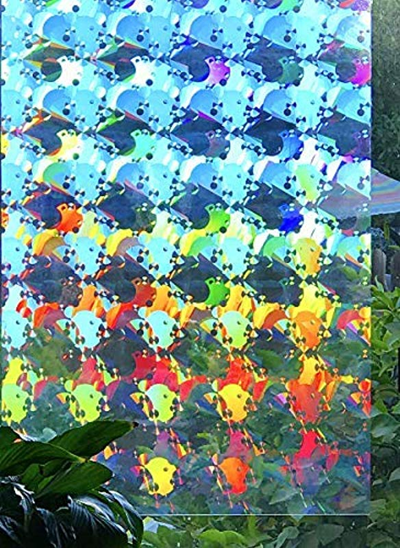 Decorative Window Film Holographic Prismatic Etched Glass Effect Fill Your House With Rainbow Light 24 X 36 Panels Ambrosia Pattern