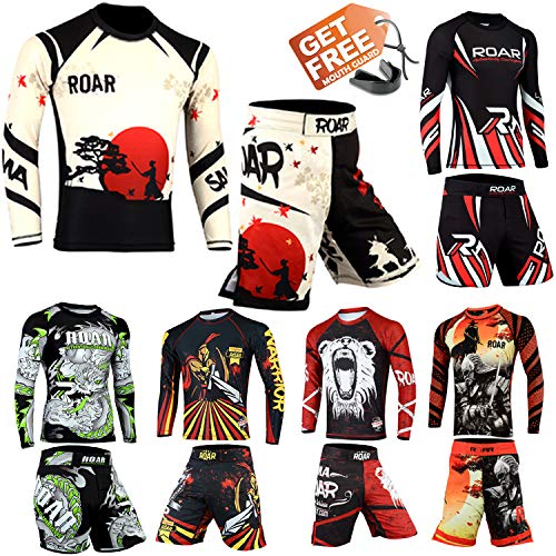 ROAR Kids Mixed Martial Arts MMA Short BJJ Training Muay Thai Cross fit Workout