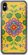 iPhone Xs Max Pure Clear Case Cases Cover Floral Rangoli Pattern on Yellow