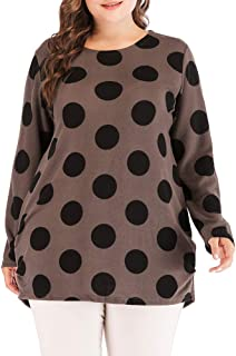 Coffee Round Neck Blouse For Women