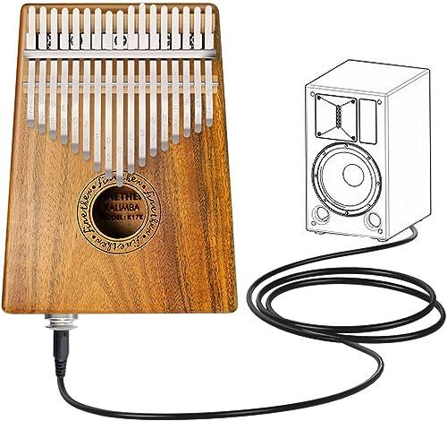 Kalimba 17 Clave Thumb Piano Instrumento con Herramienta de Ajuste y Bolsa de Transporte de Finether (Koa wood + pick...